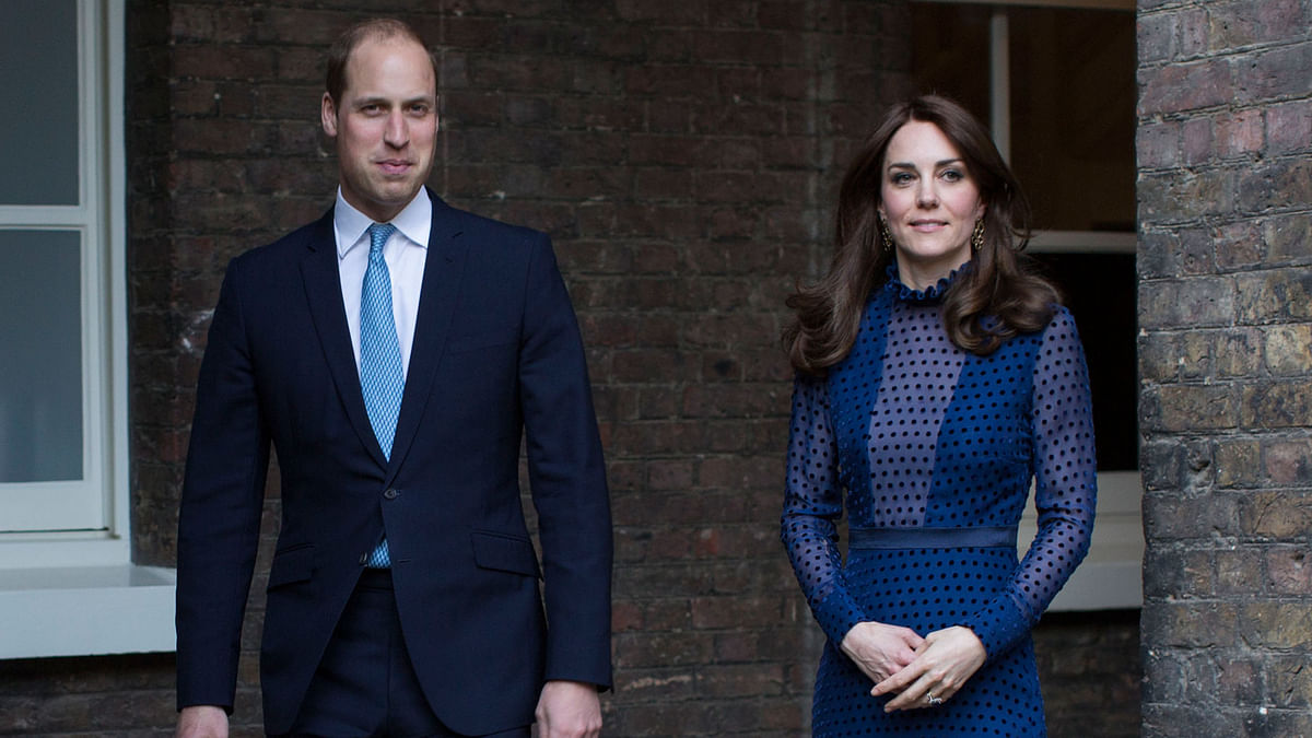 Prince William and Kate, the Duchess of Cambridge, attend a reception at Kensington Palace on Wednesday 6 April, 2016, ahead of their tour to India and Bhutan. (Photo: AP)