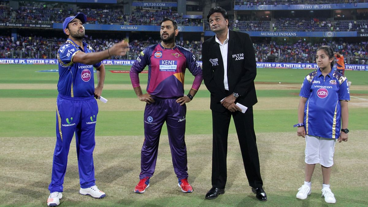 Rohit Sharma with the coin during the toss. (Photo: BCCI)