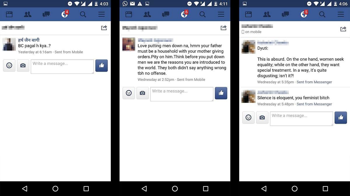 Screenshots of the messages sent to me. (Photo Courtesy: Dyuti Sudipta)