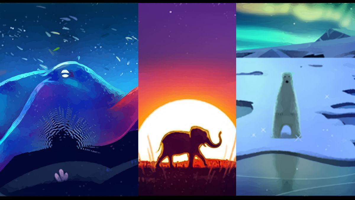 Google doodles. (Photo: Google/Altered by <b>The Quint</b>)