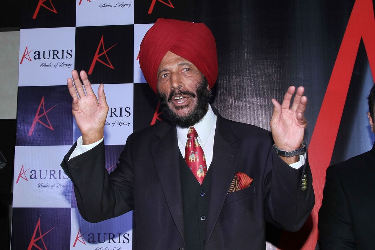 Former Indian track and field sprinter Milkha Singh during a programme in Kolkata on Nov. 4, 2015. (Photo: IANS)