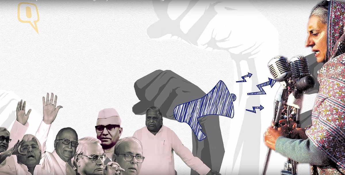 The Jan Sangh merged with others to form the Janta Party to defeat Indira Gandhi. (Photo: <b>The Quint</b>)
