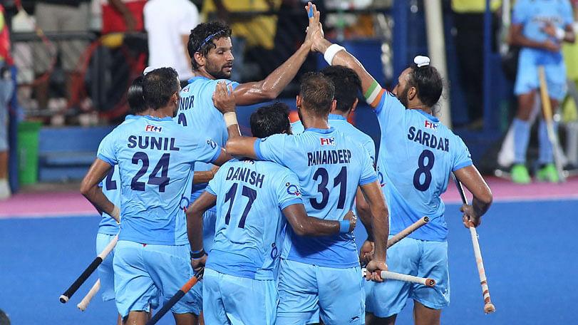 A still from the India-Pakistan match (Photo: Hockey India)