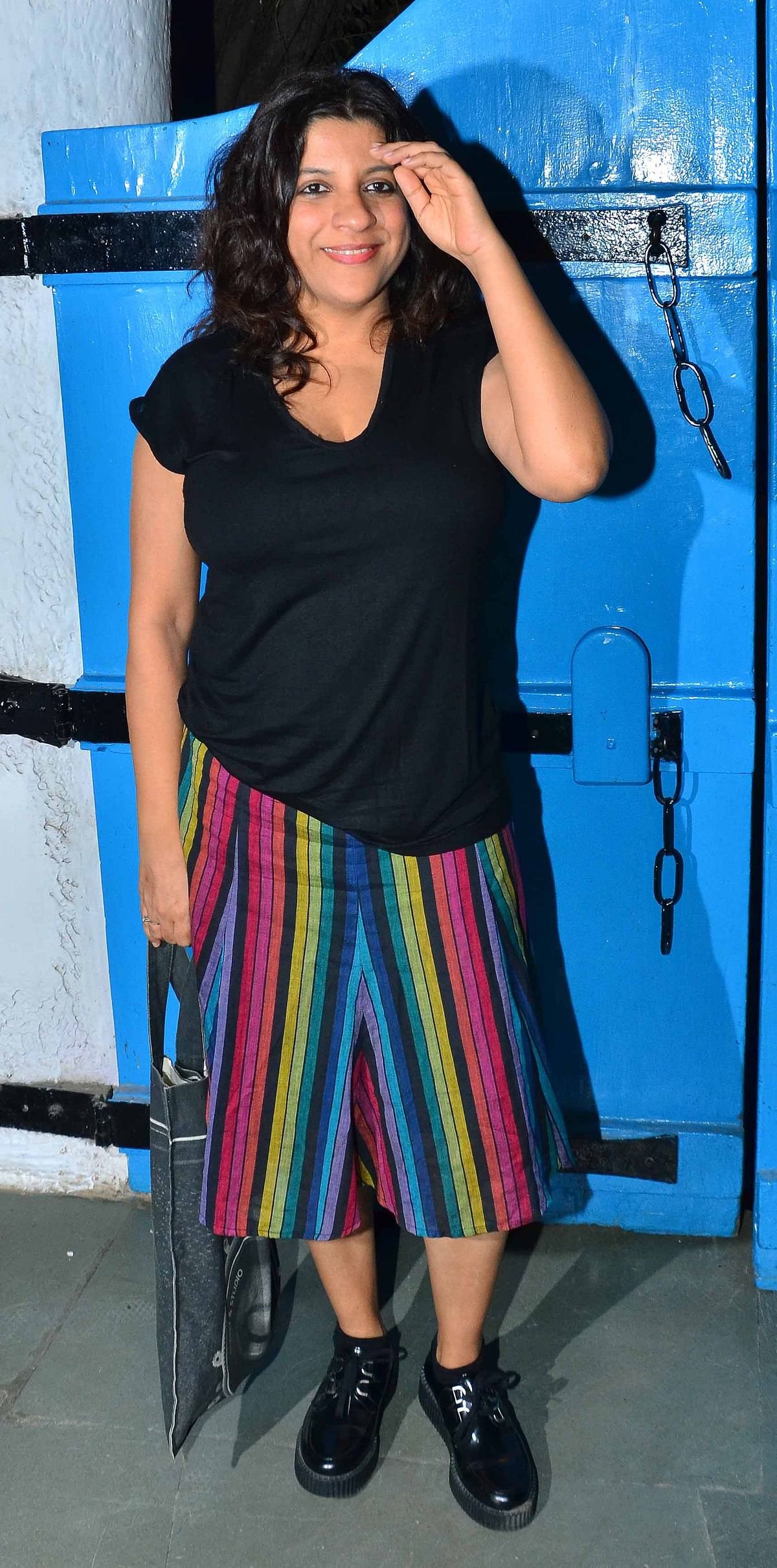 We have no idea what Zoya Akhtar was thinking when she decided to wear this (Photo: Yogen Shah)