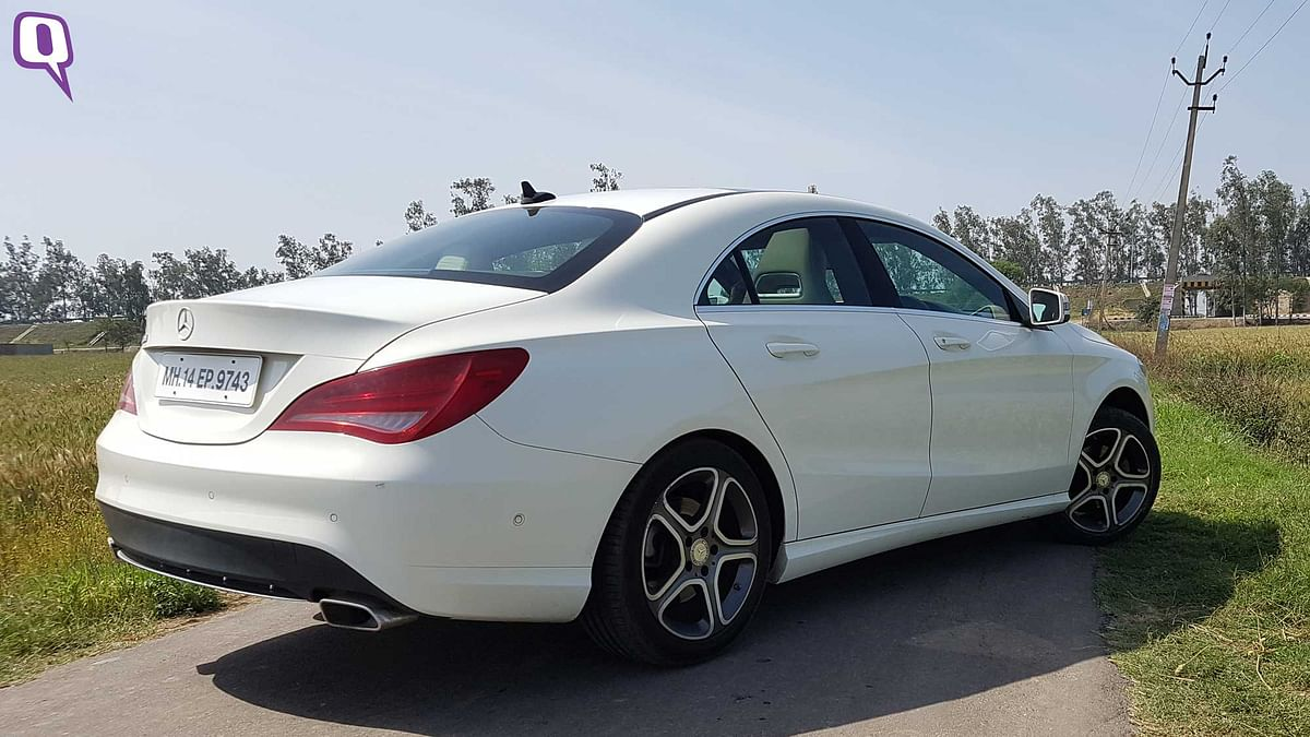 At Rs 35 lakh (ex-showroom, Delhi) the Mercedes-Benz CLA will make heads turn every time you drive it. (Photo: <b>The Quint</b>)