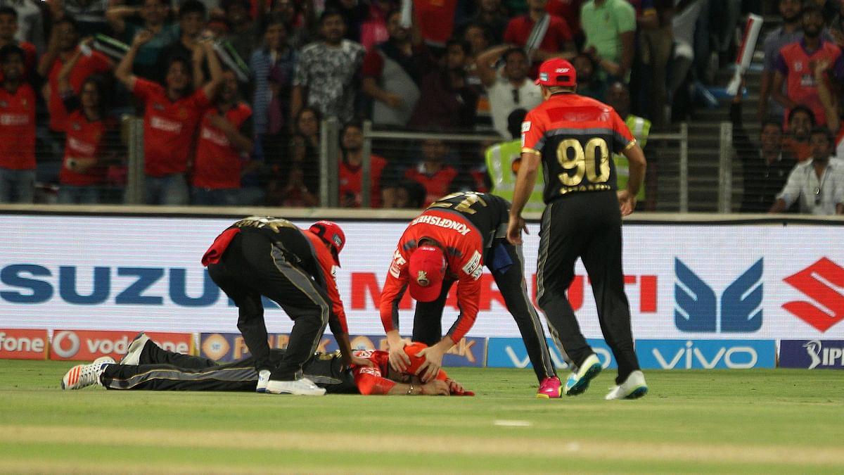 Virat Kohli (on ground) celebrates after getting Steve Simth run out. (Photo: BCCI)