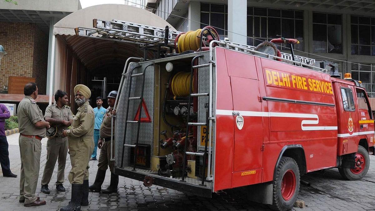 Representative of Delhi fire brigade. (Photo: IANS)