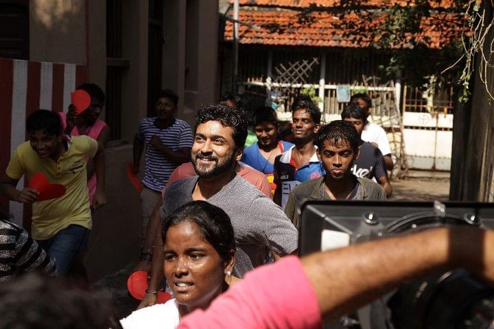 Suriya shoots for 'Spirit of Chennai'