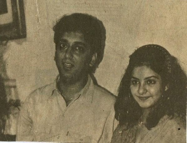 Filmmaker Sajid Nadiadwala with Divya Bharti