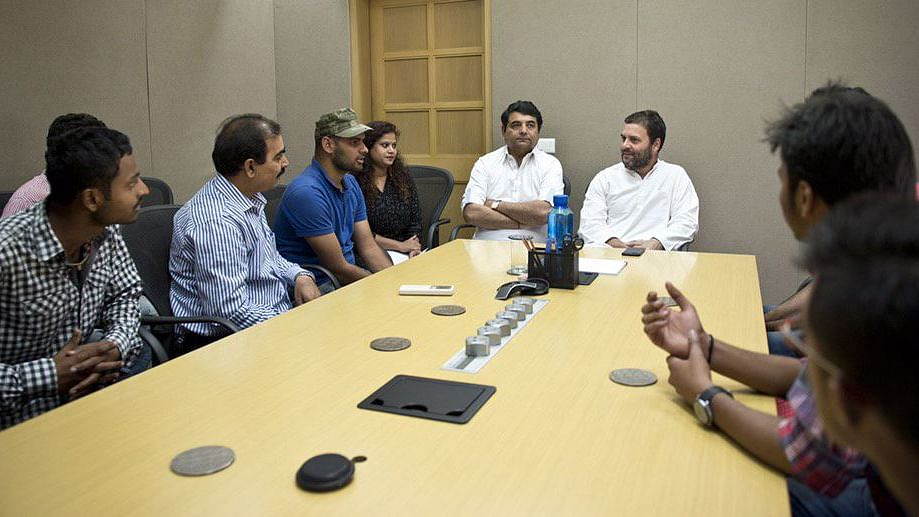 """Rahul Gandhi sat down with students from NIT. (Photo: Twitter/<a href=""""https://twitter.com/OfficeOfRG"""">RGofficial</a>)"""