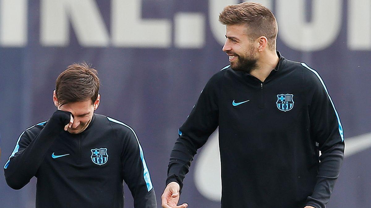 File photo of Leo Messi with Gerard Pique (Photo: AP)