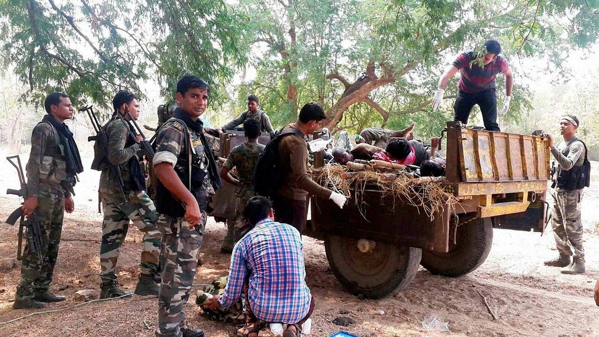 File photo of men injured in Naxal attacks in Chhattisgarh's worst Maoist violence-affected Sukma district. (Photo: PTI)