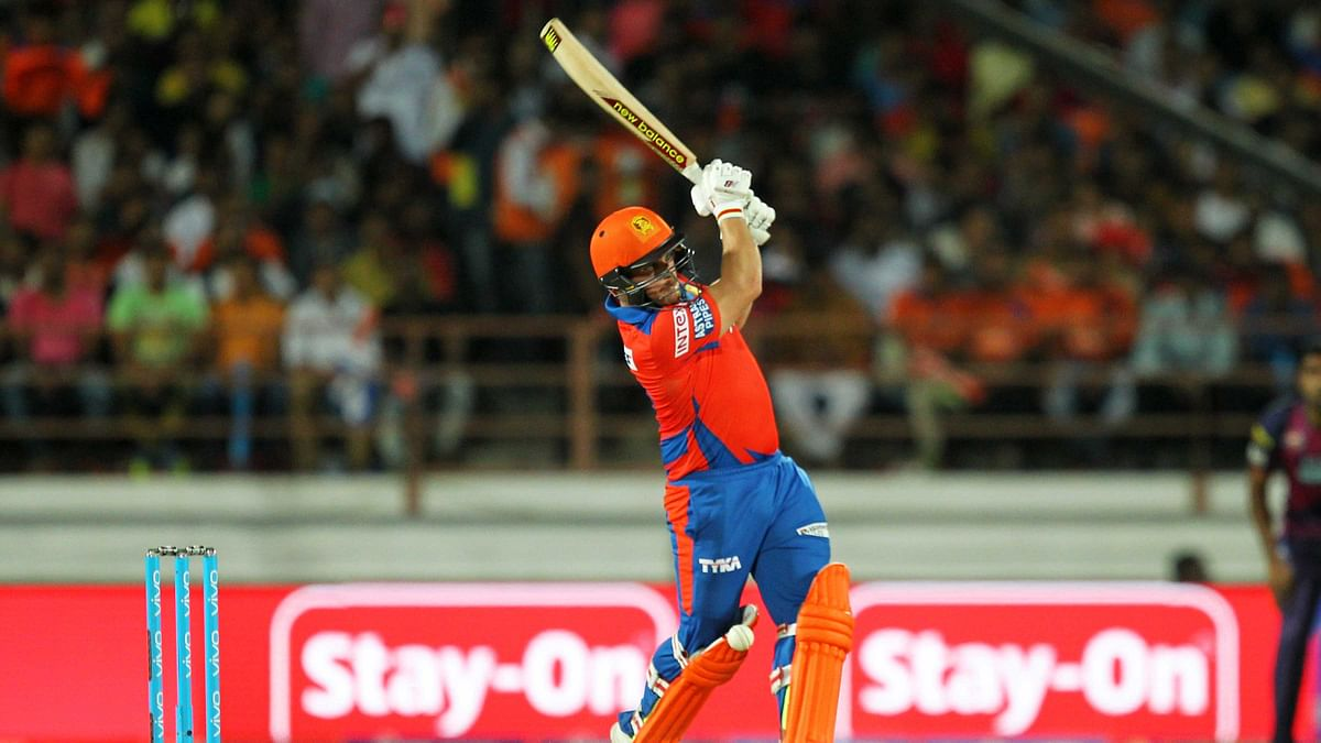 Aaron Finch scored his 50 of just 33 balls. (Photo: BCCI)