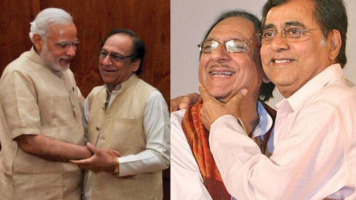 Ghulam Ali with Prime Minister Narendra Modi (left) and India's ghazal legend Jagjit Singh. (Photo: <b>The Quint</b>)