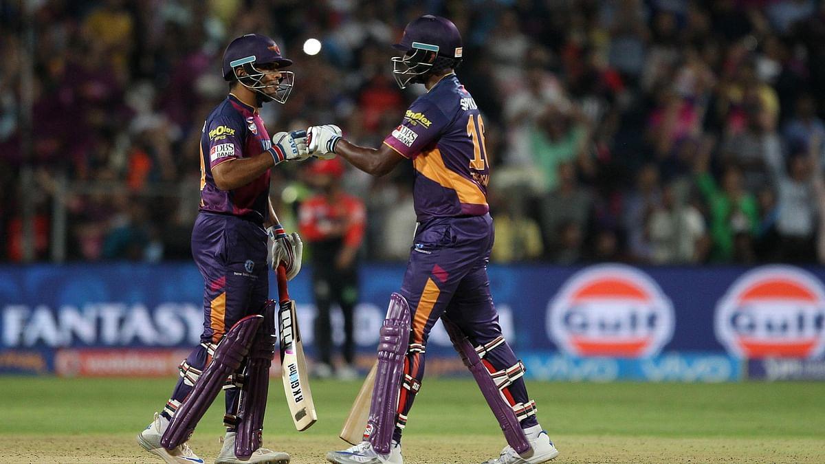 Thissara Perera (34 off 13 balls) and Rajat Bhatia (21 off 1) scored 44 runs off just 14 balls. (Photo: BCCI)