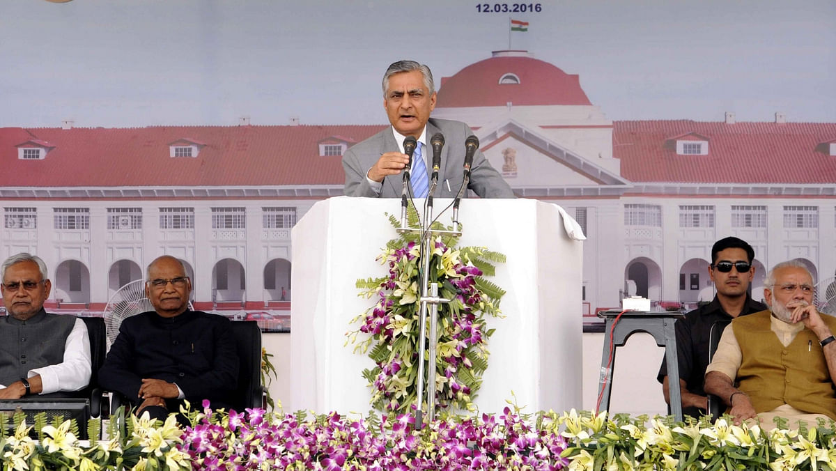 Chief Justice of India  T S Thakur addresses  the closing ceremony of the centenary celebrations of the Patna High Court,  on March 12, 2016. (Photo: IANS)