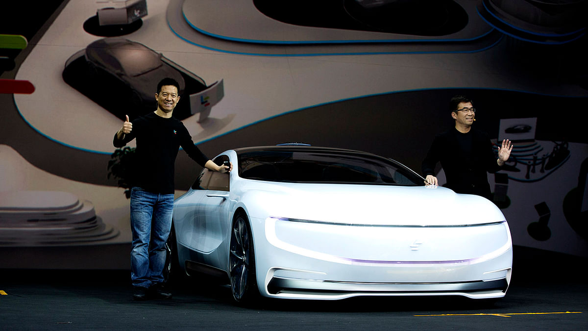 LeEco Super Car will be a D-Level electric car to rival Tesla's Model 3. (Photo Courtesy: LeEco)