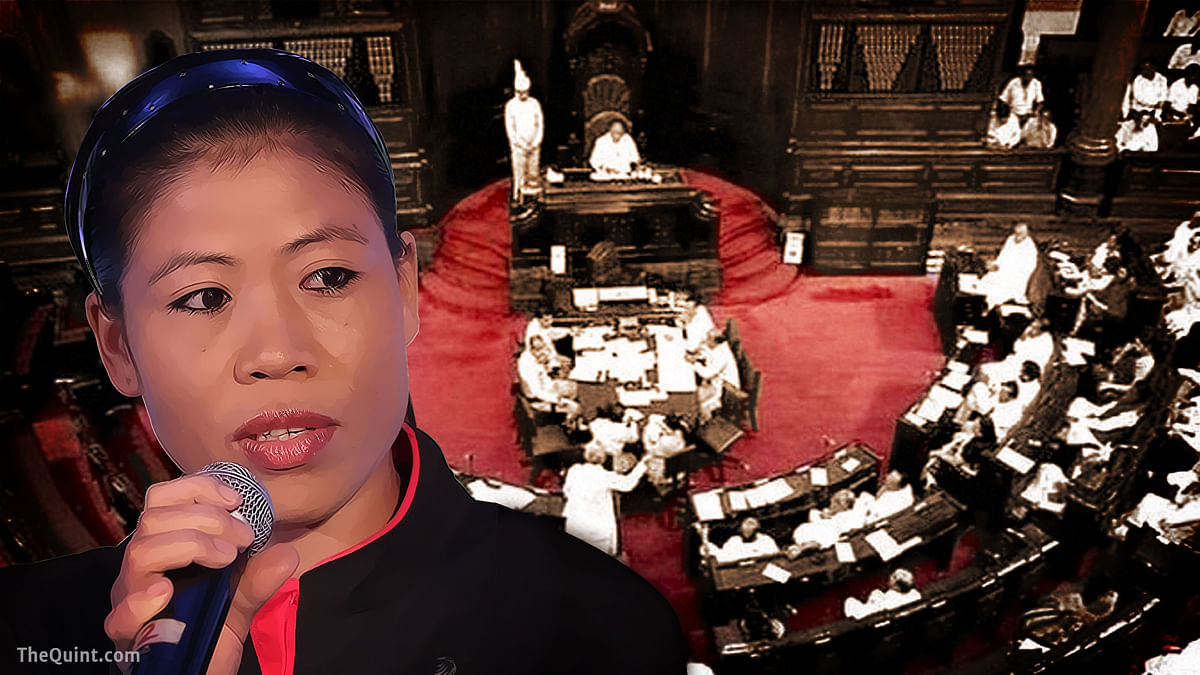 Unlike other sportspersons like Sachin Tendulkar, known for their abysmal performance in Rajya Sabha, will Mary Kom set a new precedent? (Photo: Agencies/ Altered by <b>The Quint</b>)