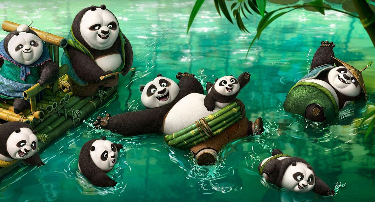 Movie still of <i>Kung Fu Panda 3 </i>