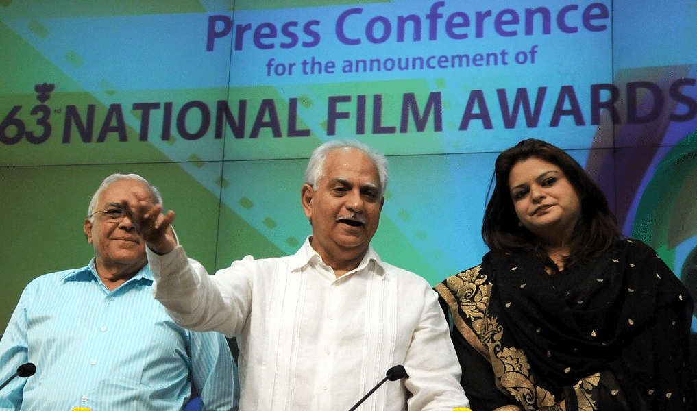 Filmmaker Ramesh Sippy at the press conference to announce the 63rd National Film Awards (Photo courtesy: Twitter)