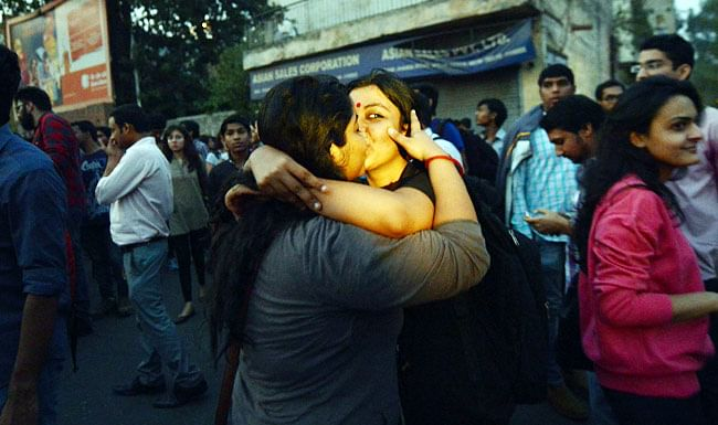 My 'Kiss of Love' campaign photo that went viral. (Photo: Dyuti Sudipta)