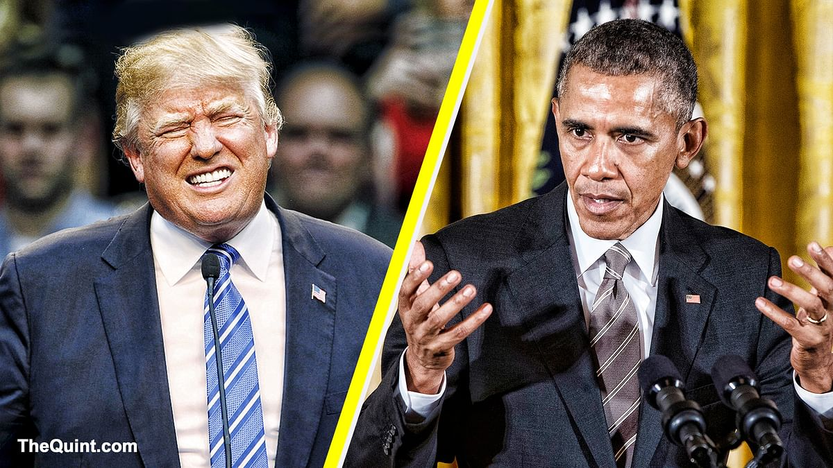President Trump strongly reacted to comments made my former US President, Barack Obama, at the Democratic National Convention.
