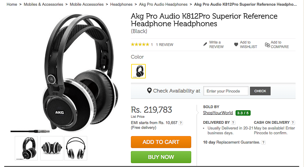 Price: Rs 219,783 (Photo: Flipkart)