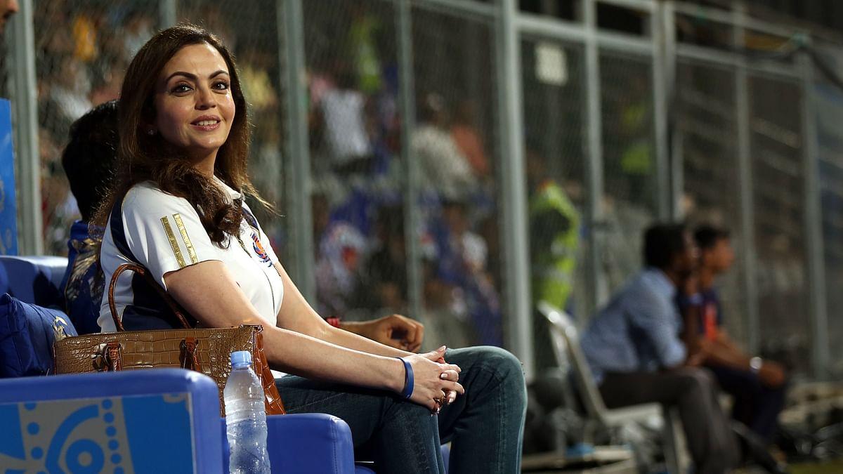 Owner of Mumbai Indians, Neeta Ambani enjoys watching her team play (Photo: BCCI)