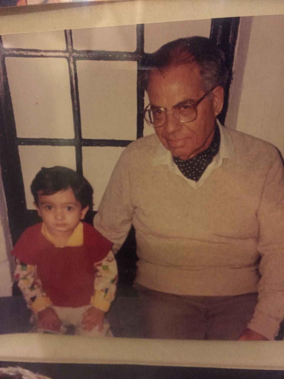 Dada with my brother in our Shimla flat. (Photo Courtesy: Shaira Mohan)