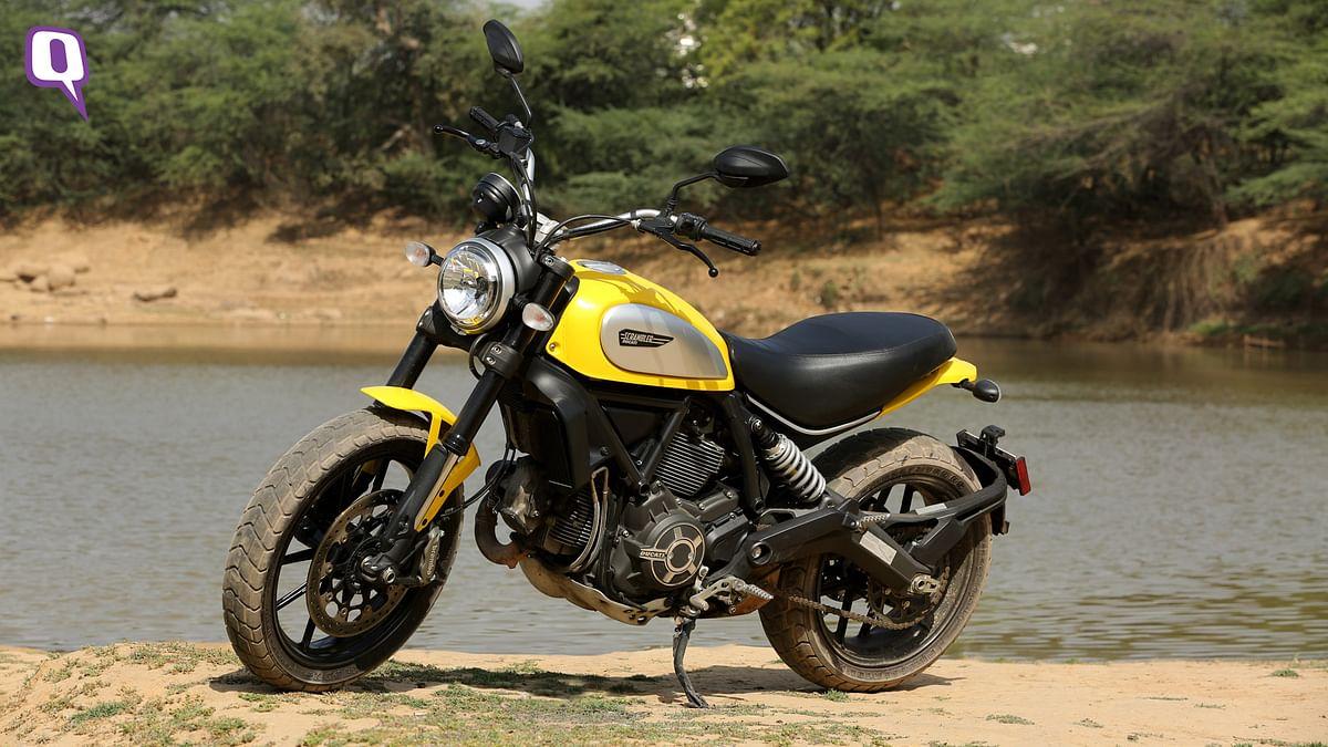The Ducati Scrambler Icon. (Photo: Siddharth Safaya/<b>The Quint</b>)