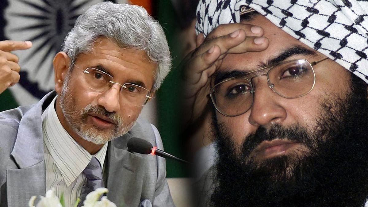 Foreign Secretary S Jaishankar (left), JeM chief Maulana Masood Azhar. (Photo: PTI/Reuters)