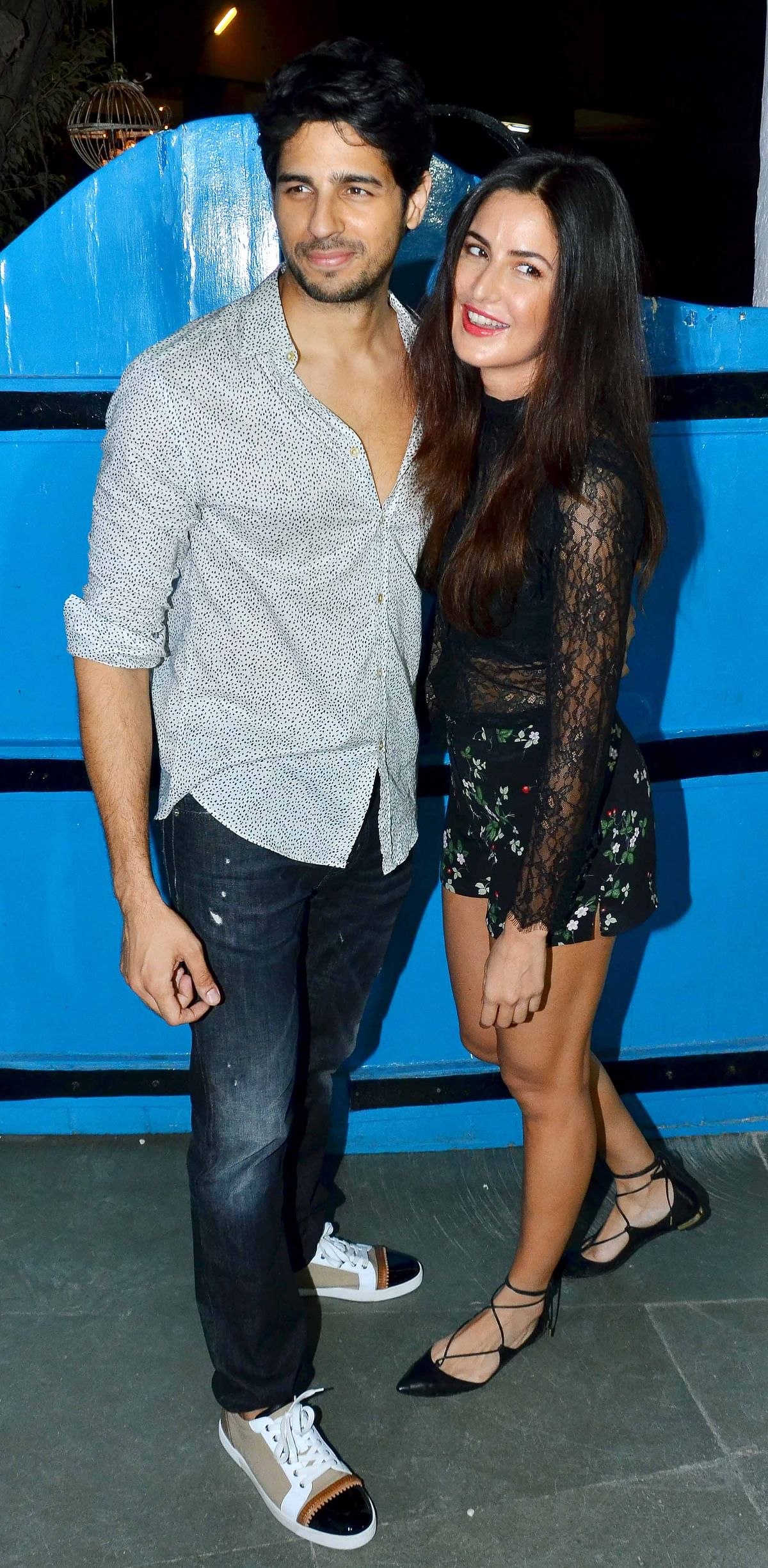 Sidharth Malhotra and Katrina Kaif at the&nbsp;<i>Baar Baar Dekho</i> wrap up party (Photo: Yogen Shah)