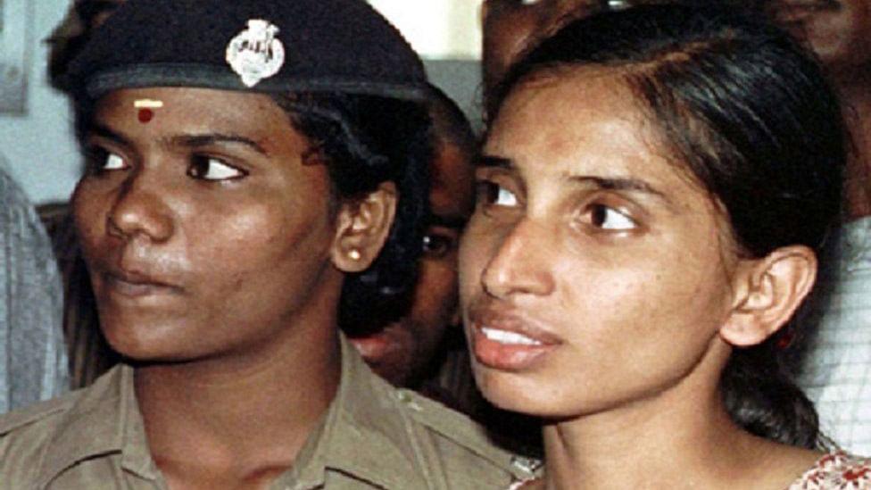 Nalini, life convict in the Rajiv Gandhi assassination case. (Photo Courtesy: <i>The News Minute</i>)