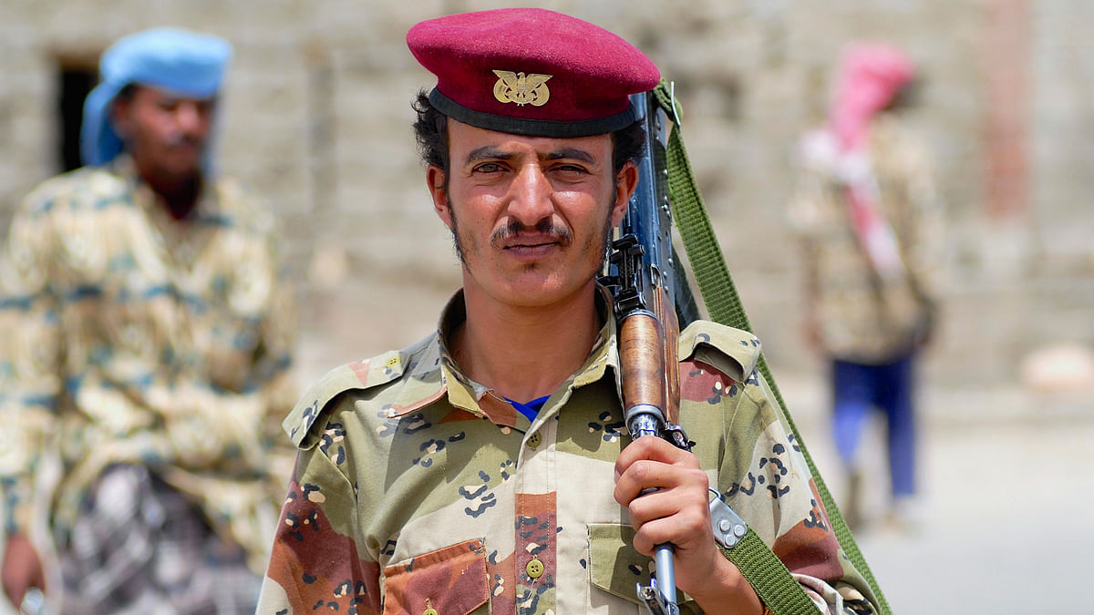 A file photo of an unidentified Yemeni soldier. (Photo: iStockphoto)