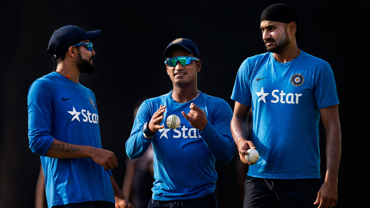 Harbhajan Singh has been busy doing errands for the team with no active role to play. (Photo: AP)