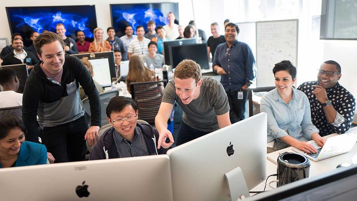"Mark Zuckerberg at Facebook Live launch room. (Photo Courtesy: <a href=""https://www.facebook.com/zuck?fref=ts"">Mark Zuckerberg</a>)"