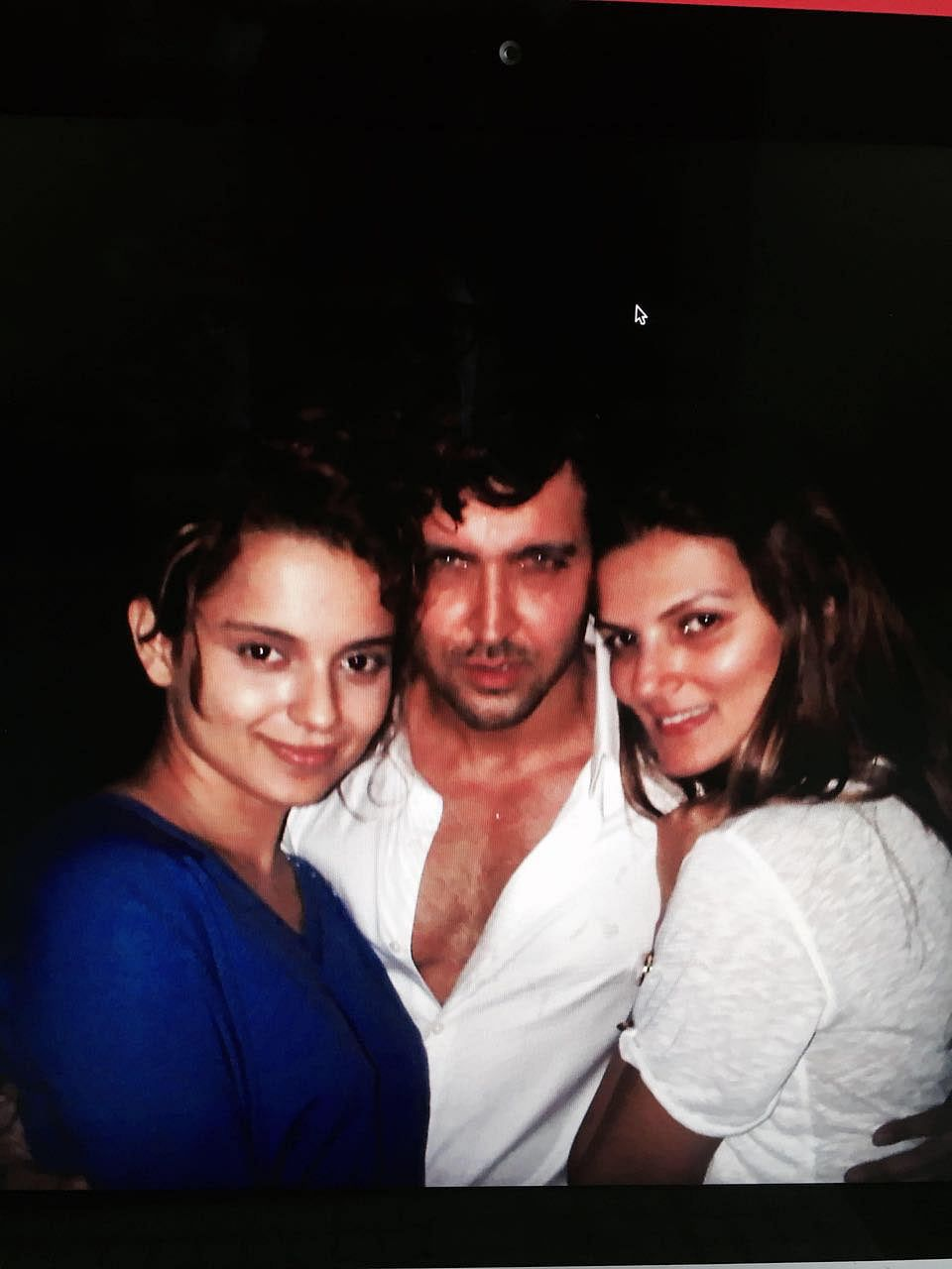Hrithik Roshan seen with Kangana Ranaut from the same party