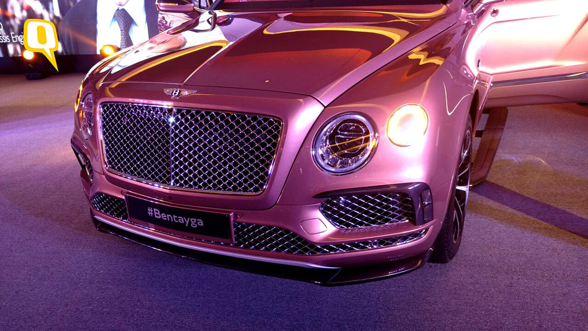 Bentley Bentayga has an aggressive front end. (Photo: <b>The Quint</b>)