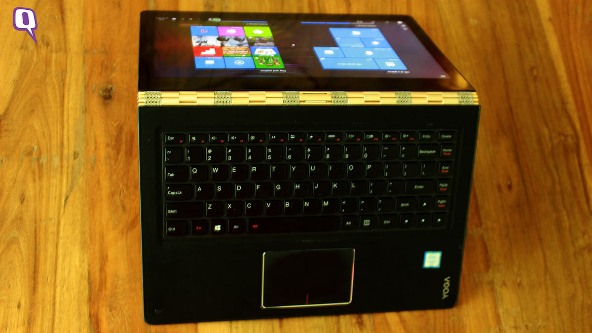 Lenovo Yoga goes the mile and all angles. (Photo: <b>The Quint</b>)