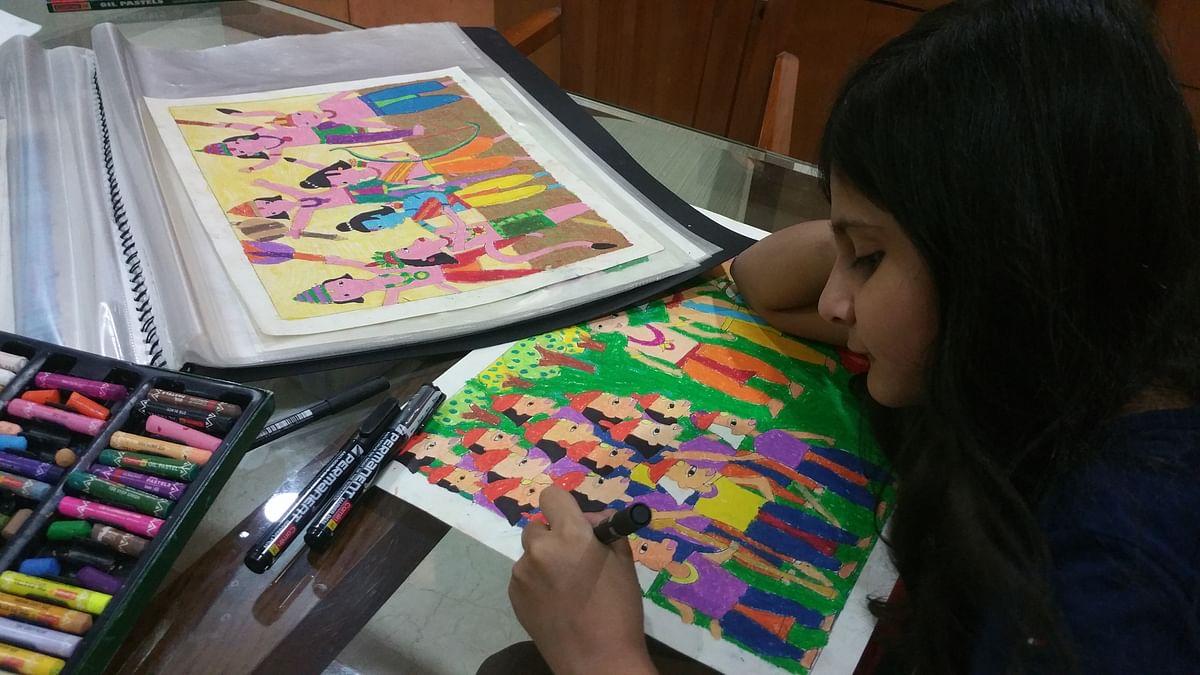 The parents helped the girls do abundant research – especially on Hanuman – the monkey god present in both the chosen mythologies.(Photo Courtesy: Priya Adhyaru Majithia)