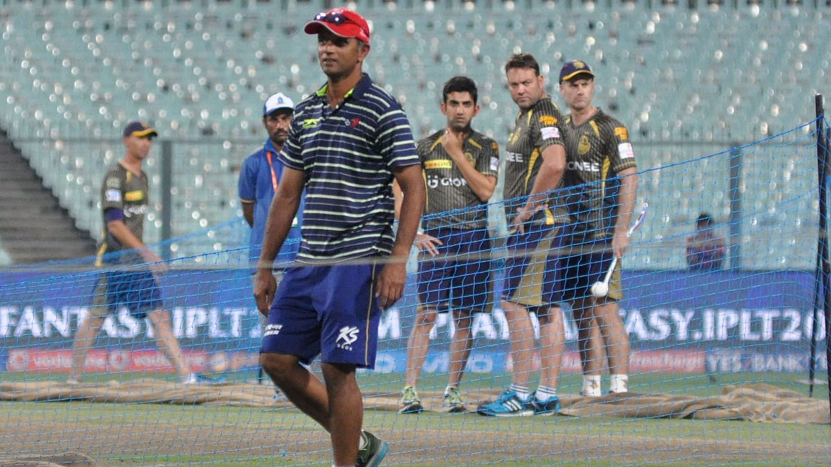 Rahul Dravid before DD's game against KKR. (Photo: IANS)