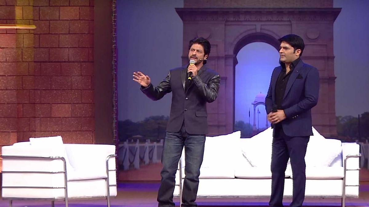 Shah Rukh Khan on the inaugural episode of <i>The Kapil Sharma Show </i>(Photo courtesy: YouTube)