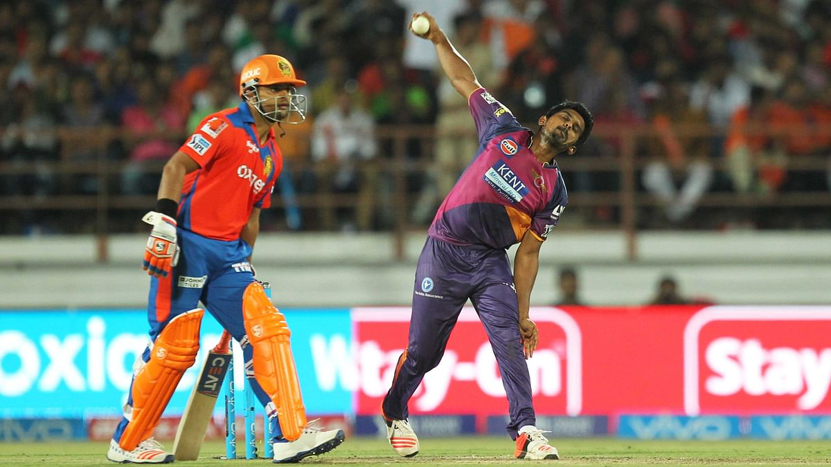 M Ashwin gave the much needed breakthrough to RPS (Photo: BCCI)