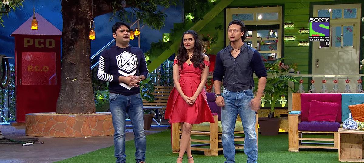 Kapil Sharma with Shraddha Kapoor and Tiger Shroff on the new show (Photo courtesy: YouTube)