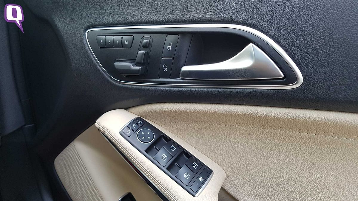 Mercedes-Benz CLA200 has memory seats for both the front and back occupants of the car. (Photo: <b>The Quint</b>)