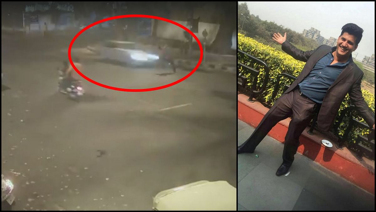 Sidharth Sharma, the 32-year-old marketing consultant who died in a hit-and-run case.(Photo Courtesy: Screengrab from CCTV footage)
