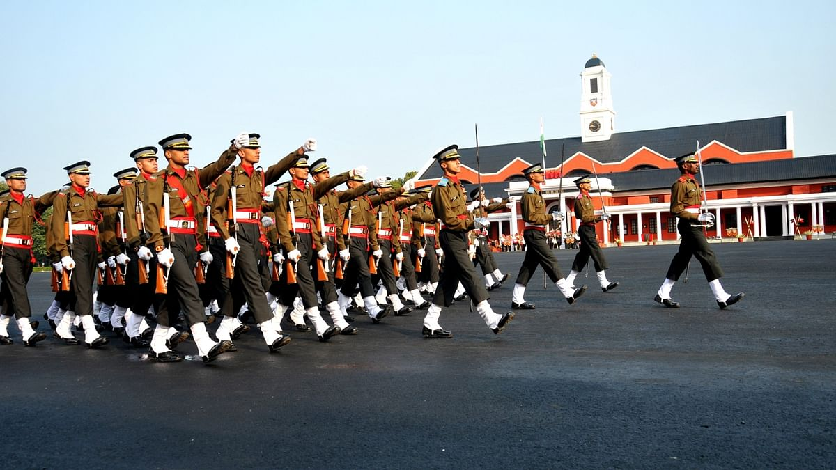 Cadets at the Indian Military Academy in Dehradun, December 2015. (Photo: IANS)