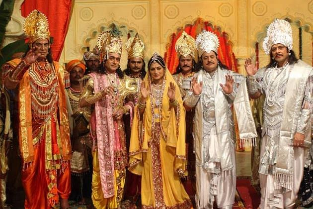The lead cast of BR Chopra's <i>Mahabharat.&nbsp;</i>