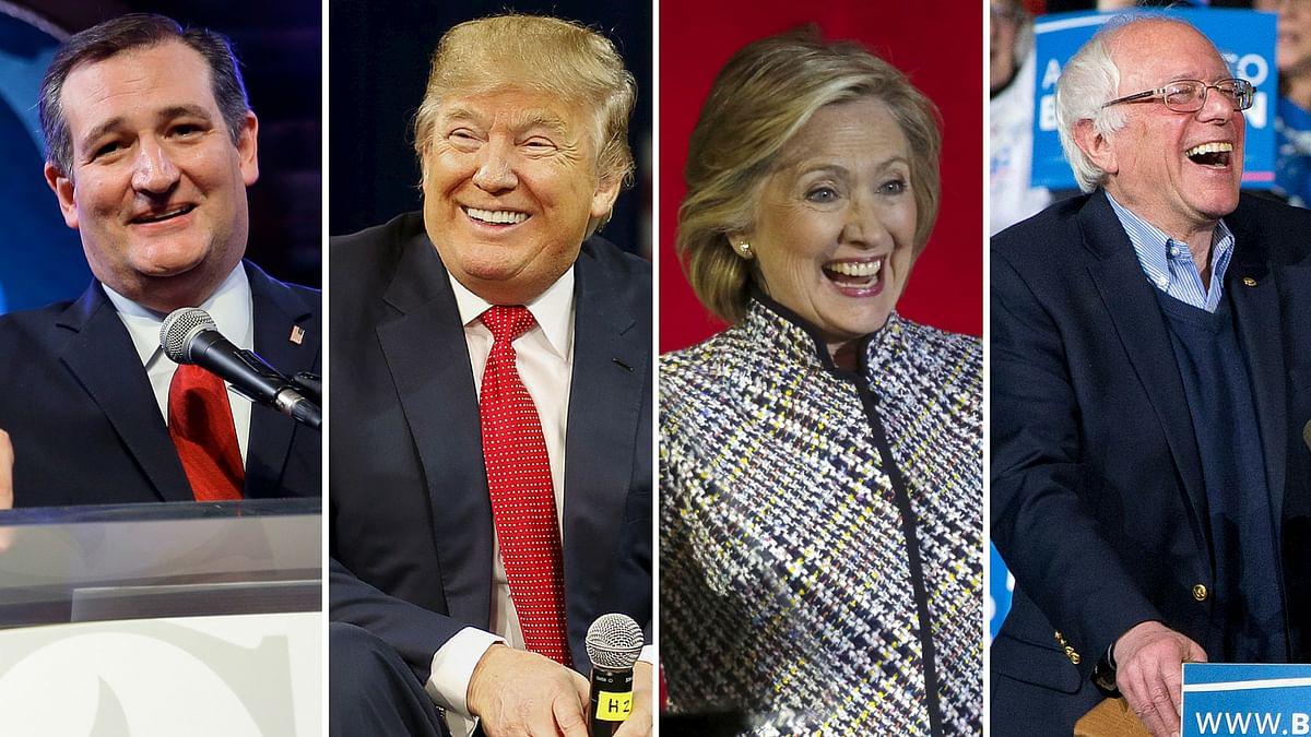 2016 Presidential candidates (l-r) Ted Cruz, Donald Trump, Hillary Clinton, Bernie Sanders. (Photo: AP/Reuters)
