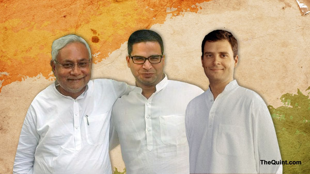 Congress master strategist, Prashant Kishor has his task cut out clearly, creating a synergy between Nitish and Rahul Gandhi ahead of UP polls in 2017. (Photo: <b>The Quint</b>)